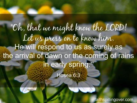 Hosea 6 3