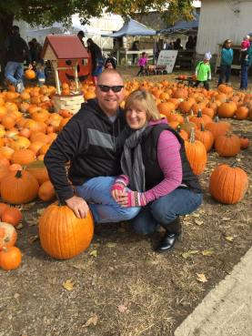 kathy and matt pumpkins