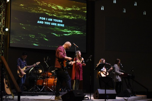 Pastor Adam and THRiVE Worship band